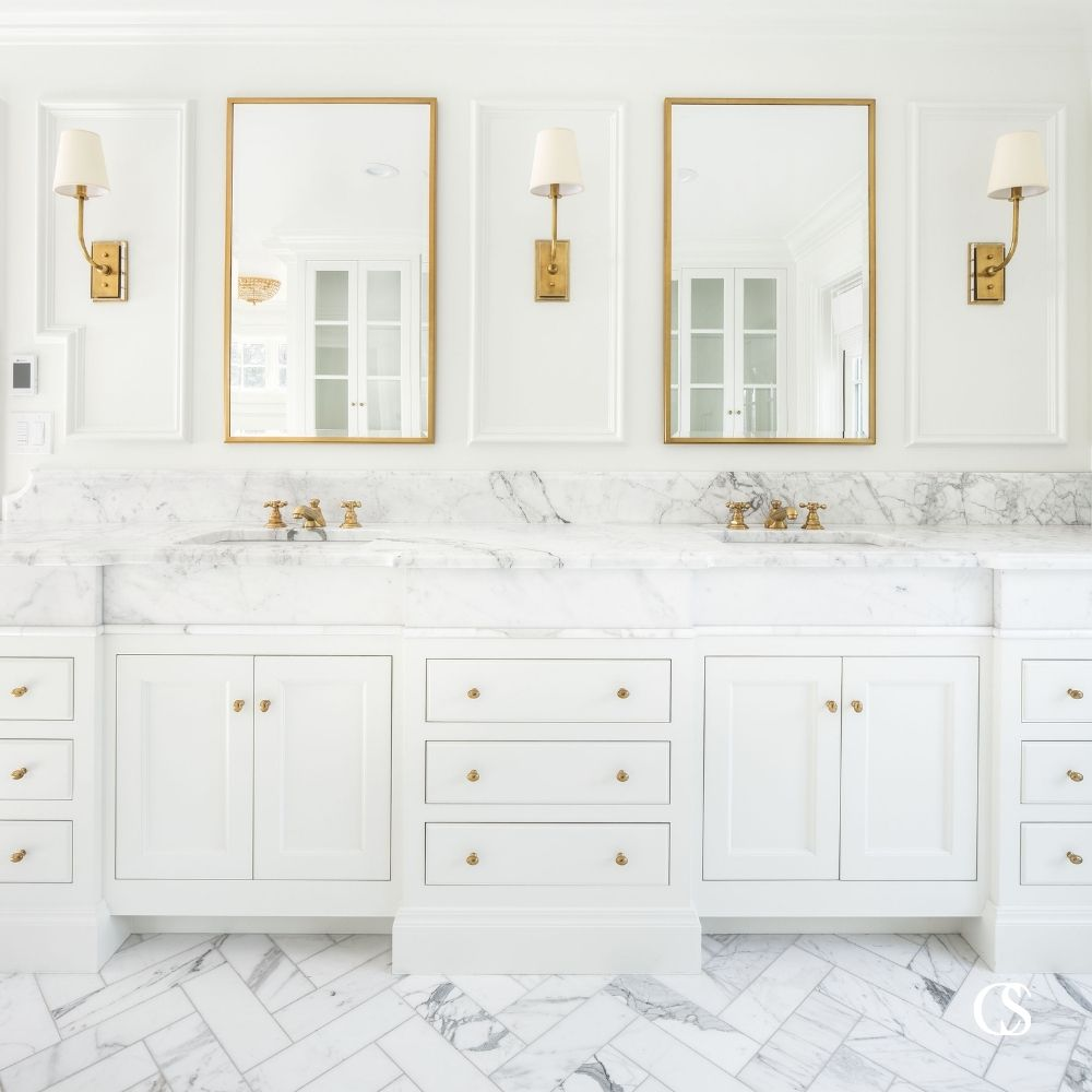 Looking for the best bathroom cabinet design ideas? Check out more gorgeous custom cabinetry at ChristopherScottCabinetry.com.