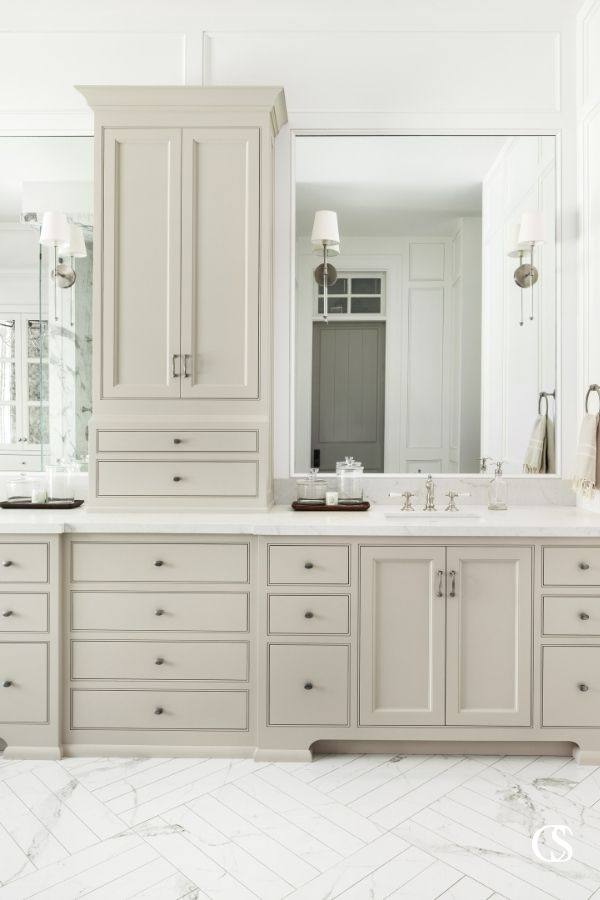 Want a peek into more of the best bathroom cabinet designs out there? Check out ChristopherScottCabinetry.com for more beautiful custom cabinetry ideas!