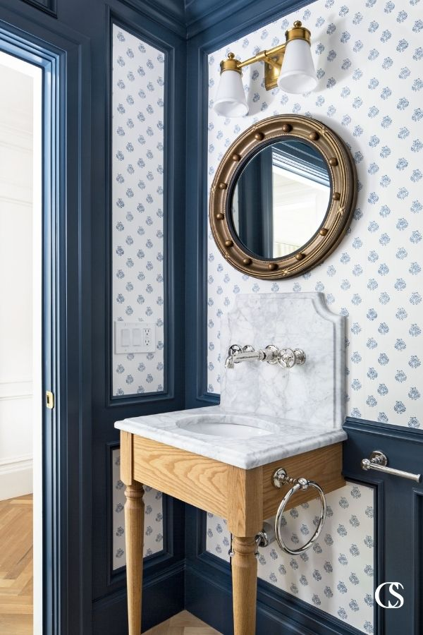 The best custom bathroom cabinets don't have to be elaborate or large to make an impact. This almost pedestal-style sink cabinet proves it.