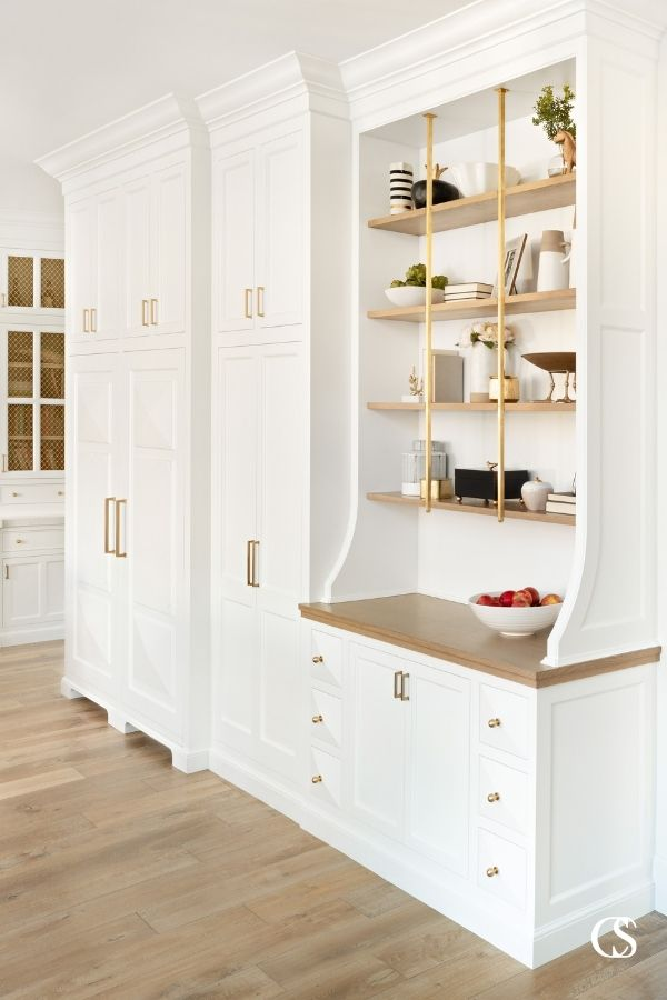 Are custom cabinets worth it? Every little detail of these custom cabinets designed for the kitchen screams YES.