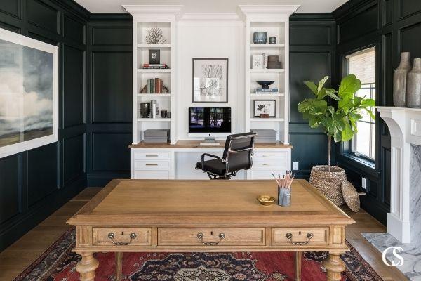 built in desk for office