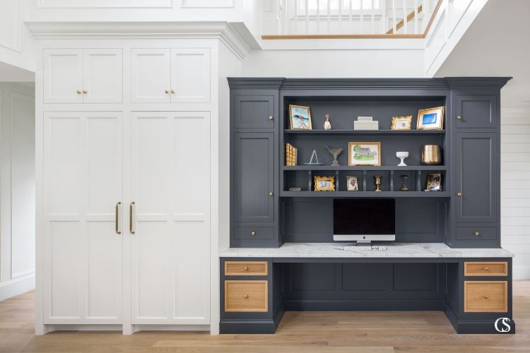 built in office cabinet