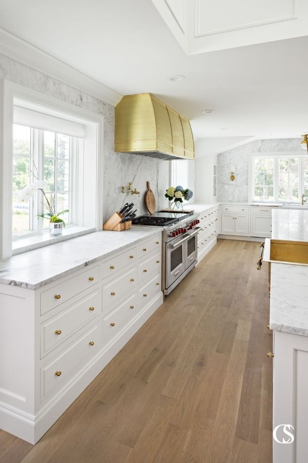 If you know you want a large double oven or other non-standard appliance, that can be a good starting place for designing cabinets for the kitchen. You don't want to get halfway through the process and break the news that something won't fit!