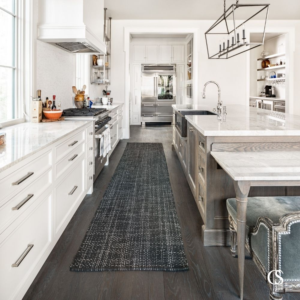 Ever think about the space between your custom kitchen cabinets? It's important that there is plenty of space to work and pass by comfortably. Find ideal measurements and other great cabinet design tips at ChristopherScottCabinetry.com!