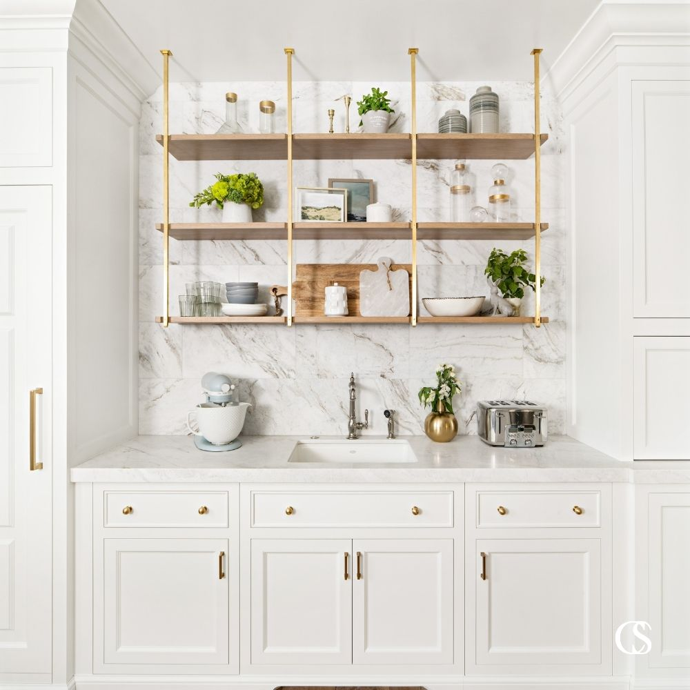 Custom pantry ideas will allow you to make a beautiful space for storing kitchen items that doesn't have to feel like a grocery store stockroom.