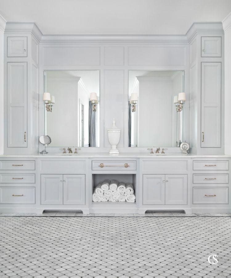 custom two sink bathroom design