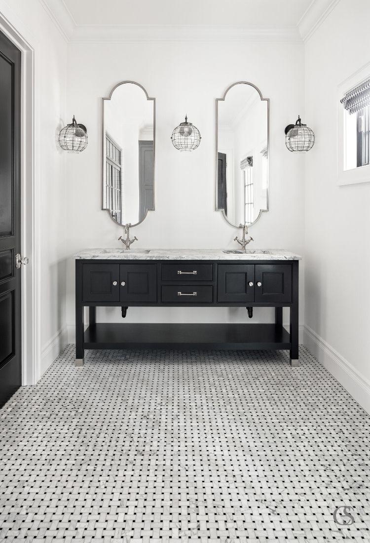 custom two sink bathroom designs
