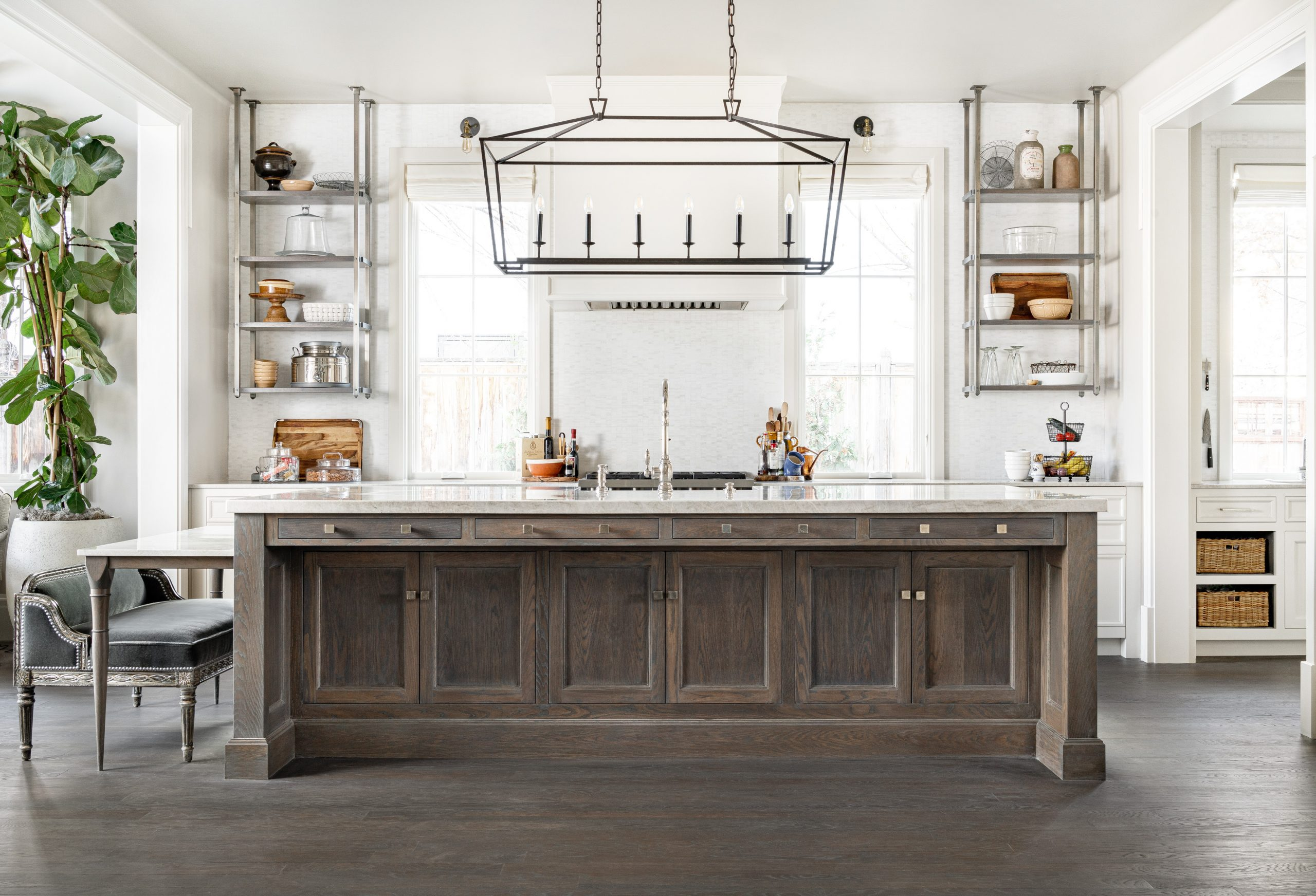 How does a kitchen that combines traditional farmhouse with modern industrial with a touch of Victorian look as seamlessly put together as this one? Christopher Scott Cabinetry and Design is how. We're meticulous about the details, because we know that's where we can make everything you're dreaming about coming together in one perfectly cohesive space.