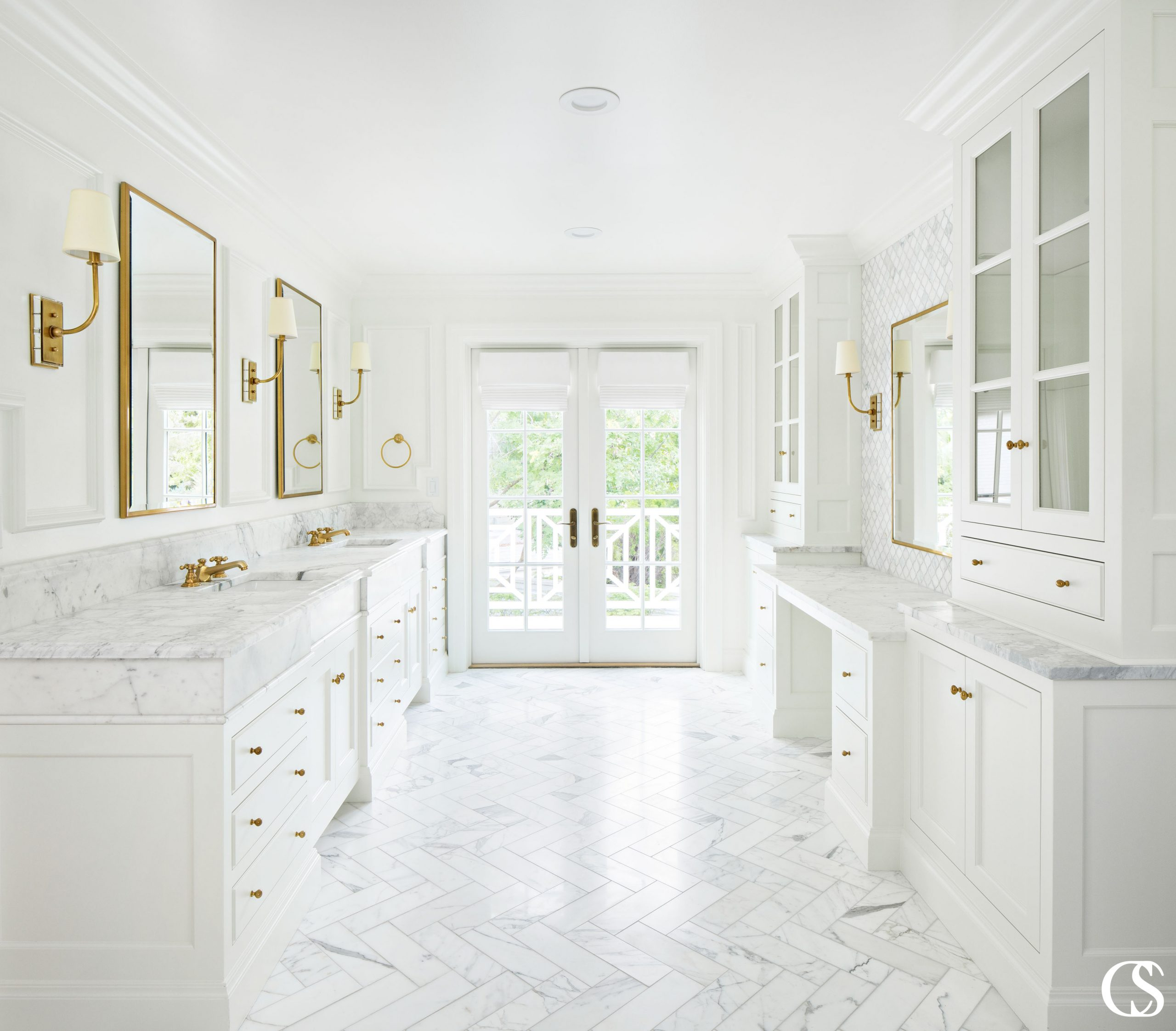 A common misconception with custom bathroom cabinets is that a vanity is all one cabinet, when in most cases, especially when two sinks are being incorporated, it's a combination of cabinets. The main reason for this is that you may need to fill a width greater than what a single cabinet can fill. Other reasons may be that you need to have a sink cabinet centered on plumbing or want to work in a specific type of storage.