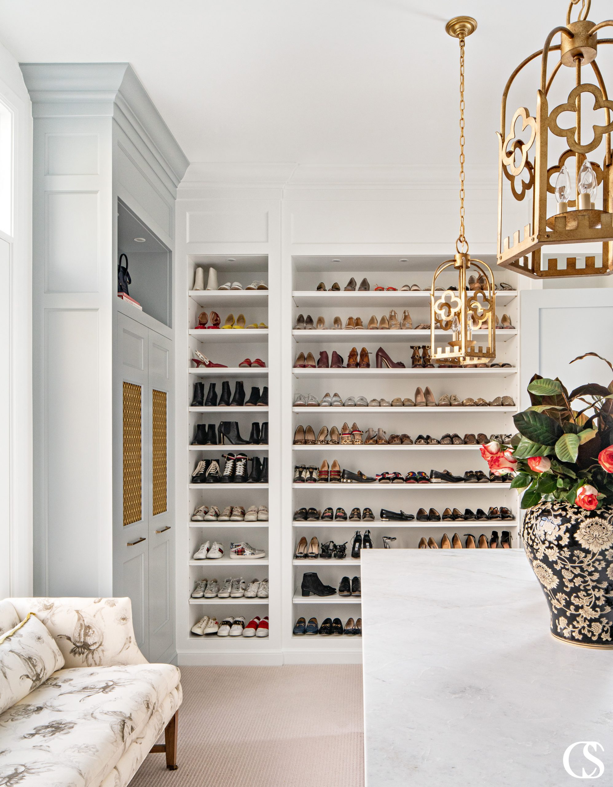 Custom closet designs should always reflect YOUR wardrobe needs. Want every pair of shoes on display? We've got you covered.