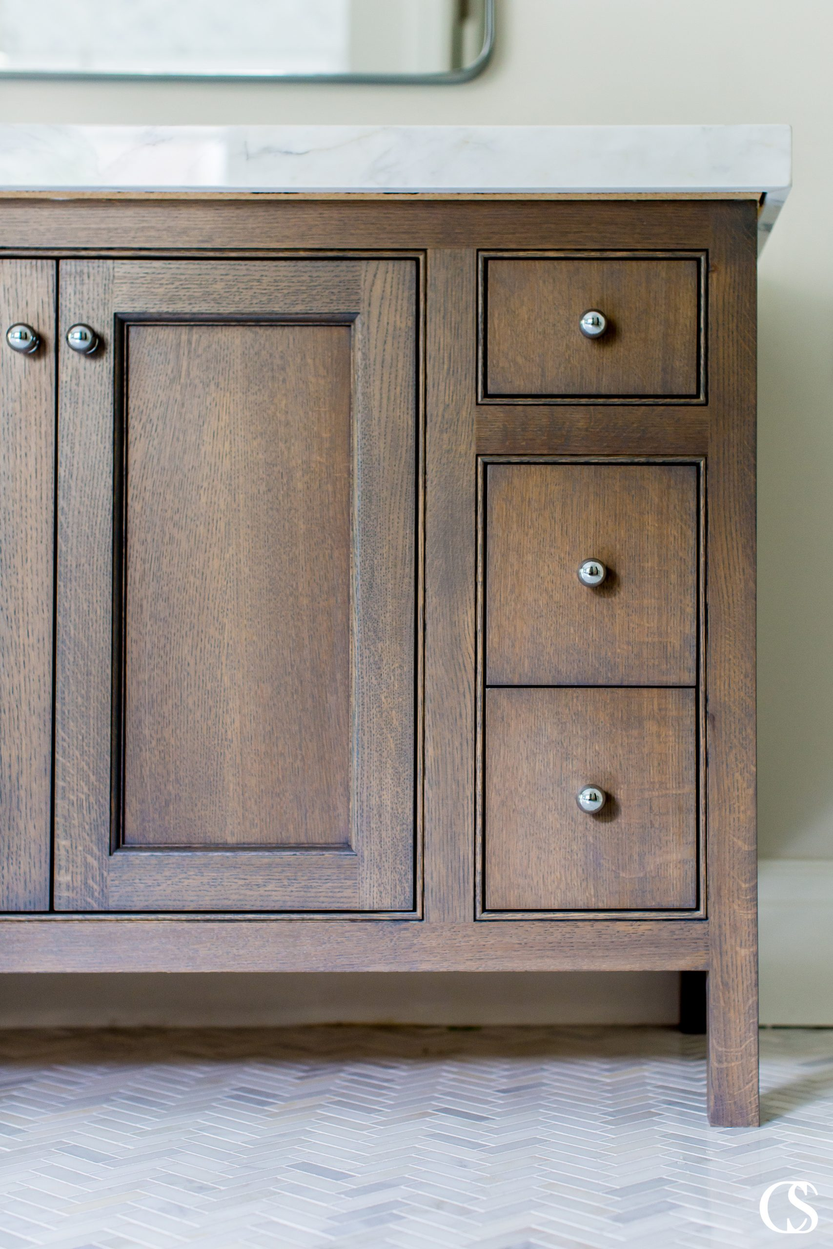 Adding a bead to inset cabinets can add just the extra boost of personality a custom cabinet needs to set it apart. Learn more about the best bathroom cabinet designs at ChristopherScottCabinetry.com!
